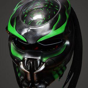 predator alien biker helmet